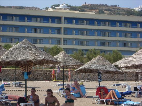 Blue Sea Beach Resort: chambre vue de la plage