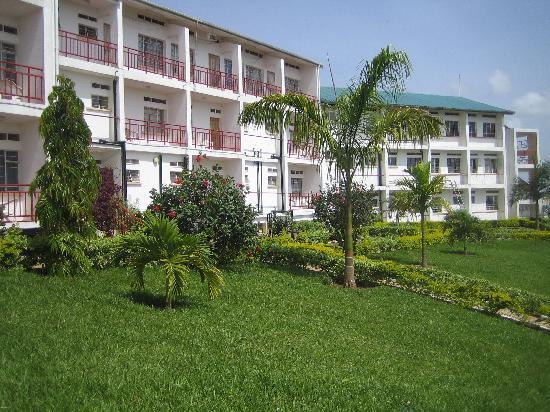 Bukoba, Tansania: Kolping Hotel with balconies overlooking Lake Victoria