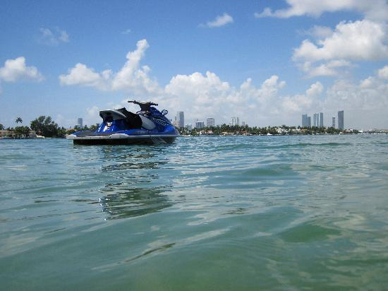Miami Jet Ski: view from monument island