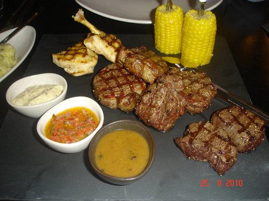 KOBE Steak Grill Sushi Restaurant Václavské nám.: Kobe mixed grill for two