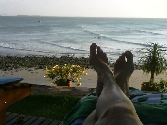 Pousada Jeriba: Pé na areia