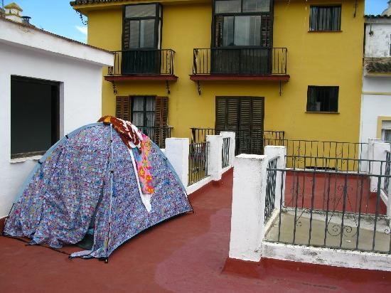 The Hostal del Pilar: Terrasse