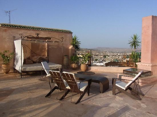 Riad Laaroussa Hotel and Spa: Riad Laaroussa - Dachterrasse 1