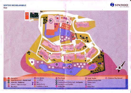 Michelangelo Resort and Spa: Hotelanlage (Plan)