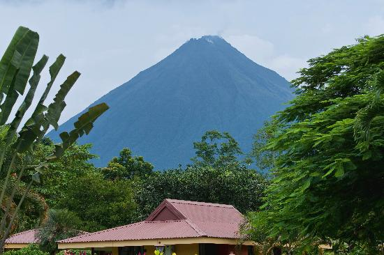 View of Arenal Volcano from the Arenal Country Inn pool
