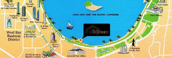 Map directions to Al Mourjan Doha Qatar Picture of Al Mourjan