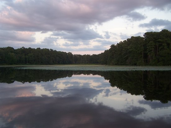 Huntsville State Park: Sunset from the fishing pier