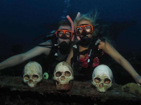 Ship Wreck With Skulls On One Of Our Scuba Diving Trips Picture Of Sandals Royal Bahamian Spa