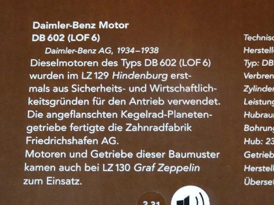 Zeppelin Museum : Technische Daten zum Motor