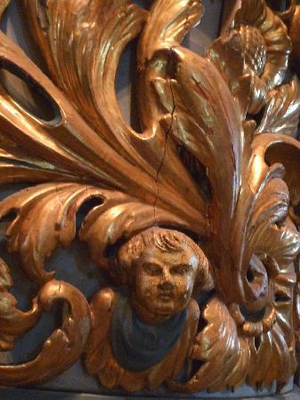 Ringsaker Kirke: Detail der Kanzel