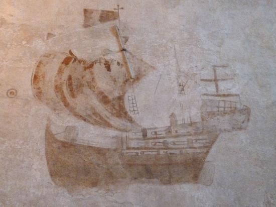 Ringsaker Kirke: Kalkmalerei im nördlichen Querschiff