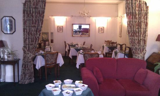 Adcote House: Breakfast room/lounge
