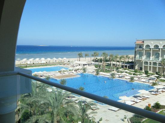 Premier Le Reve Hotel & Spa (Adults Only): Our partial sea view!!