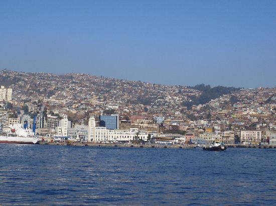 Valparaiso, Chile: Valparaíso desde el mar.