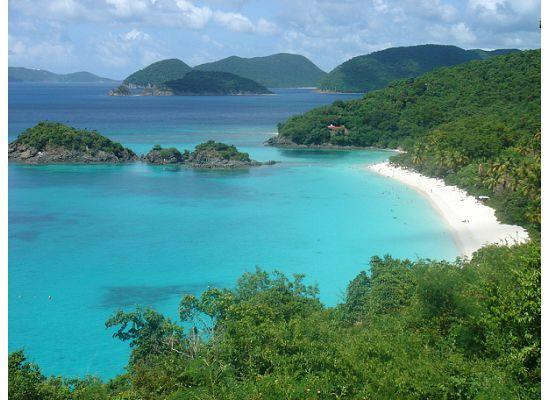 Windcrest Villa: Trunk Bay from the overlook