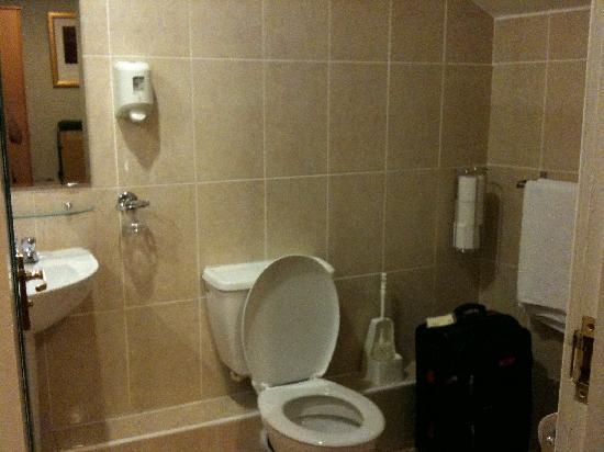 ألبيون هوتل: Large bathroom with modern toilet