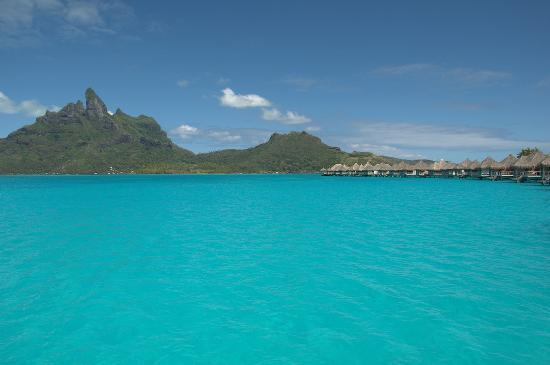 The St. Regis Bora Bora Resort: view from deck