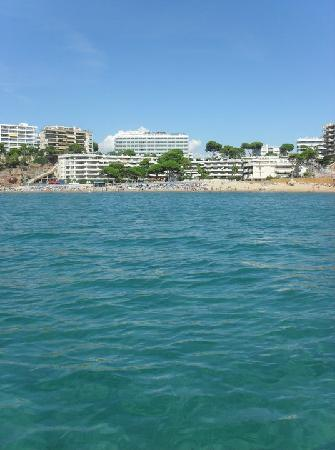 4R Salou Park Resort II: Capellans Beach from our pedalo