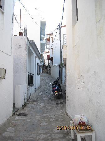 Ciudad de Skiathos, Grecia: mysig gränd
