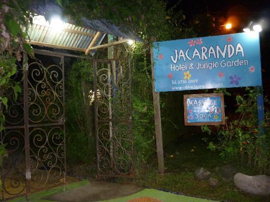 Jacaranda Hotel and Jungle Garden: entrada