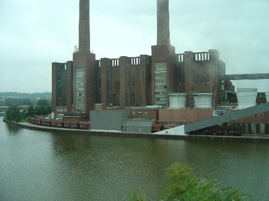 The Ritz-Carlton, Wolfsburg: vw factory view from ritz carlton