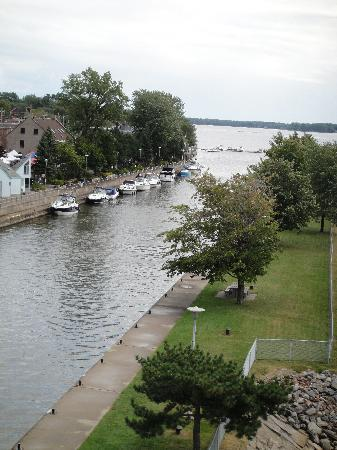 Au Bout de l'Isle: view from the nearby belverdere whcih overlooks the locks at sainte-anne-de-bellevue