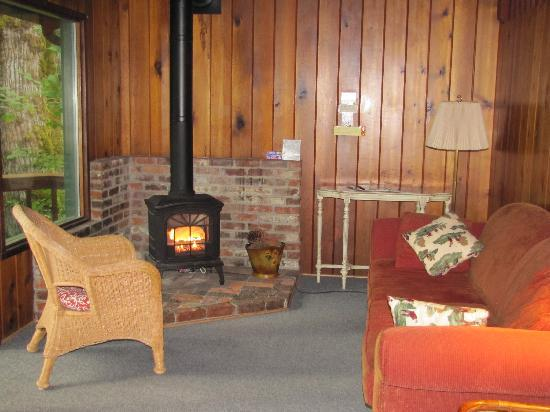 Caddisfly Resort LLC: The living room of our cabin.