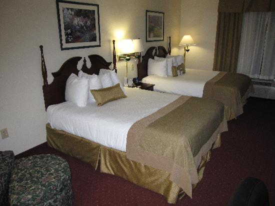 Wingate by Wyndham Greensboro : upscale bed and bedding