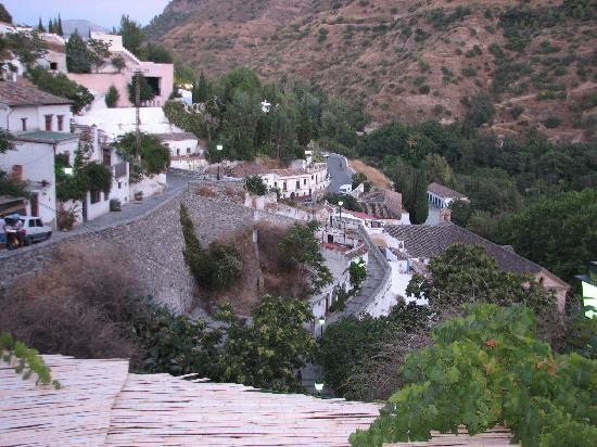 Cuevas El Abanico: view from the terrace of the caves