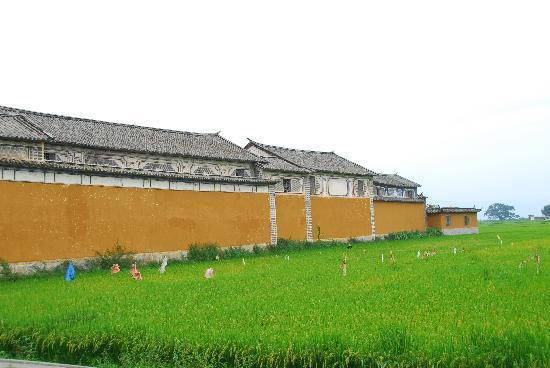 The Linden Centre : Side view of LC in middle of rice fields.