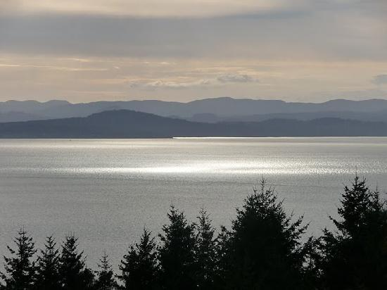 Highland Inn of San Juan Island : sunset view from whale watch suite