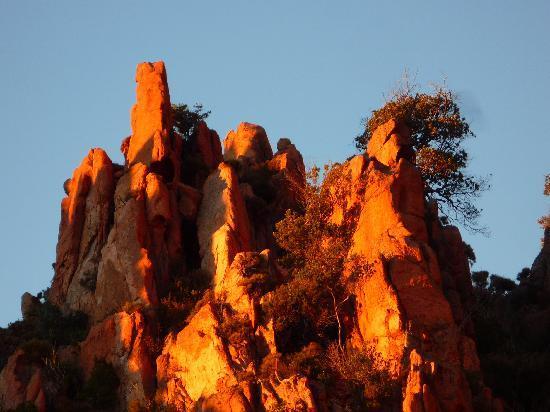 Les Calanche : coucher de soleil