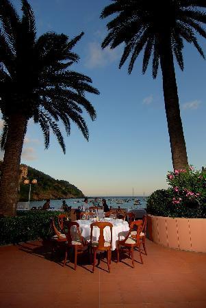 Hotel Miramare Sestri Levante: giardino al tramonto