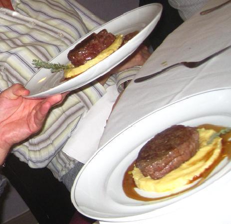 Le Manège : Présentation du plat principal