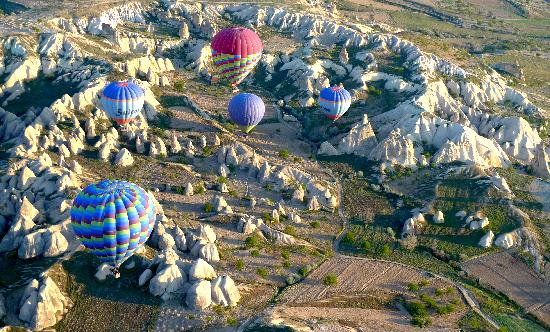 Cappadocia Cave Suites: Ballooning over fairy chimneys