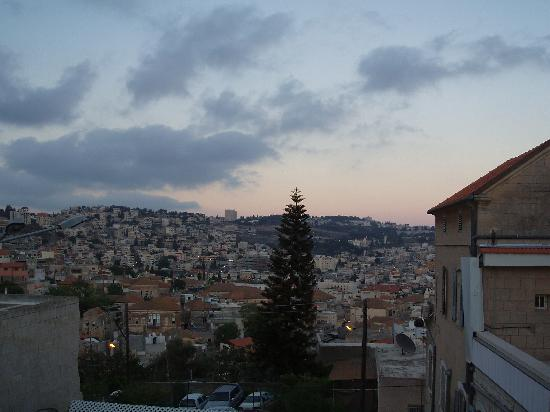 Rosary Sisters Guest House: view from the guesthouse over nazareth