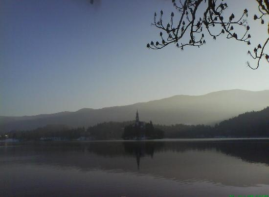Lake Bled: Bled at December 31st.