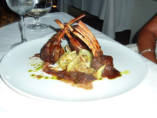 Beloved Playa Mujeres: Rack of lamb at dinner