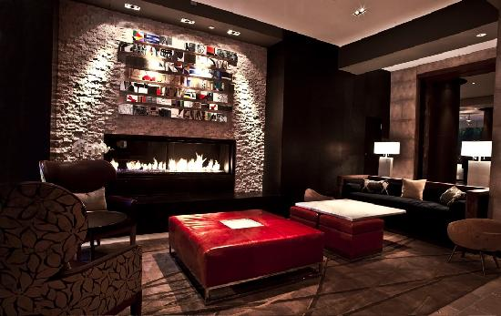 Fireplace lounge picture of intercontinental new york times square intercontinental new york times square fireplace lounge teraionfo