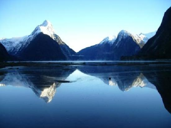 Clear Skies at Milford Sound