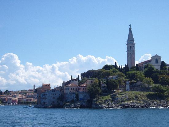 Rovinj, Kroatien: view from the boat