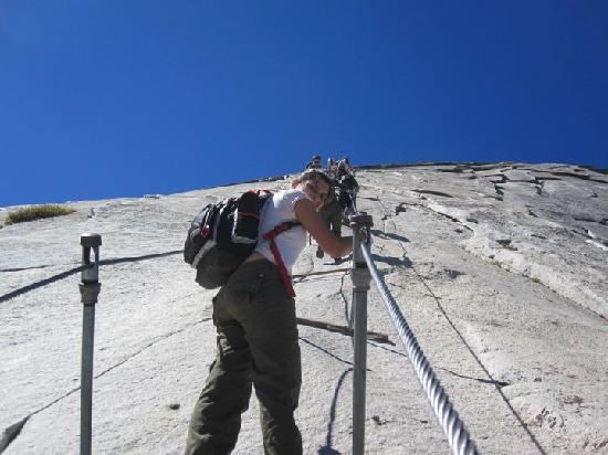 Half Dome: Bring good gloves, hiking shoes; granite is slippery