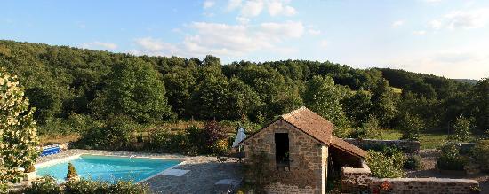Jouillat, France : Panoramique - vue de la chambre