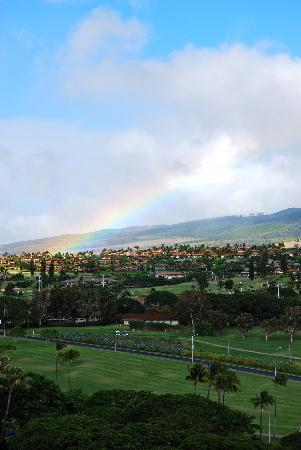 Aston at The Whaler on Kaanapali Beach: Rainbow view