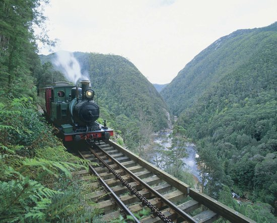 Strahan, Αυστραλία: West Coast Wilderness Railway