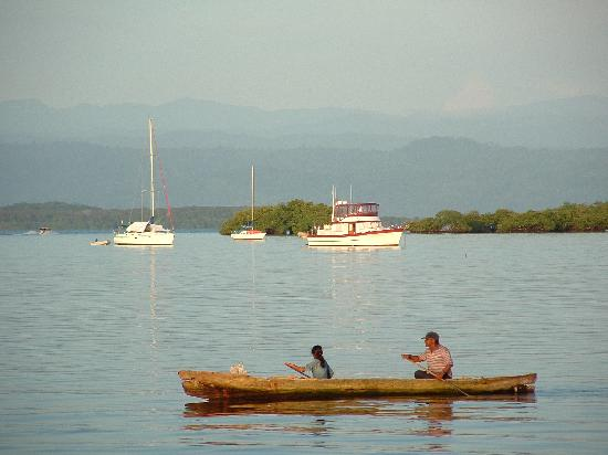 Bocas del Toro Province, Panama: view from hotel olas