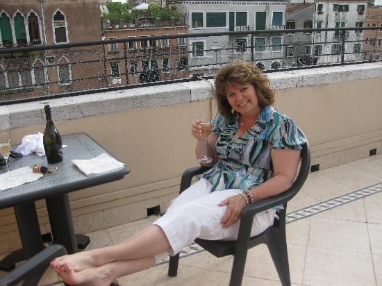 Hotel Ca' Dogaressa: Enjoying the good life on the roof-top terrace