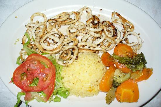 Miramar: Grilled squid (120 pesos)