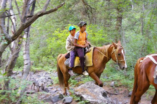 Kolsai Lakes: You can go on horseback