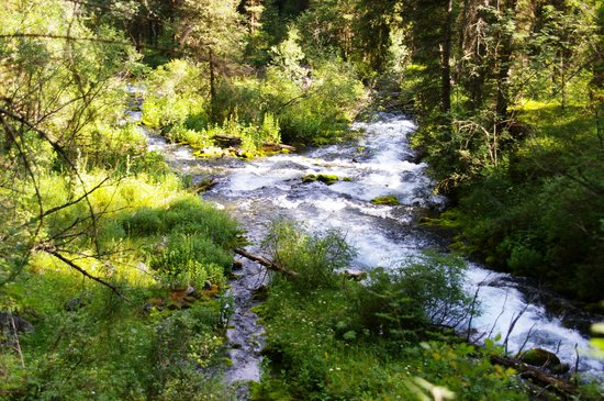 Almaty, Kazakstan: Stream between the lakes